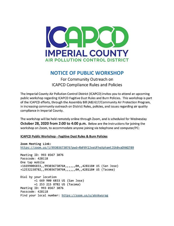 APCD Encorcement Workshop Notice (10-28-