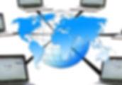 World Globe Laptops Networked
