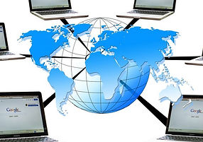 World Globe Laptops Networked