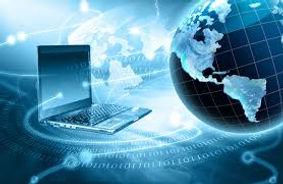 World Globe and Laptop