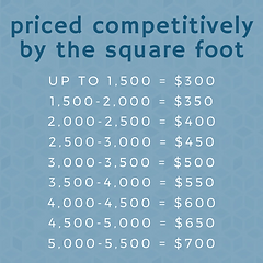 Priced competitively by the square foot.