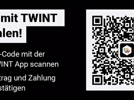 Ganz einfach per TWINT unterstützen!