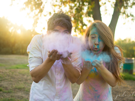 Colorful Holi Powder Couple Shoot: Glennellen & Adrian