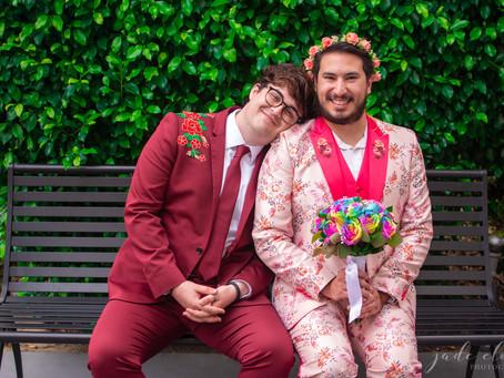 Jesse & Kyle's Colorful, Disney-Inspired Wedding