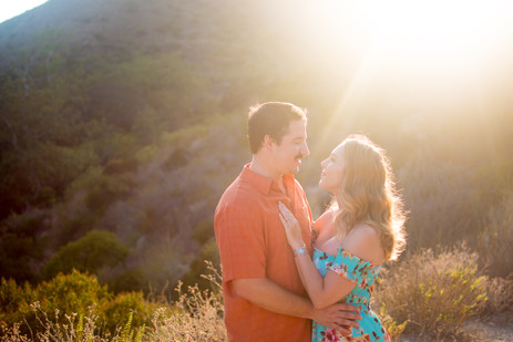 Couple in Solstice Canyon at sunset