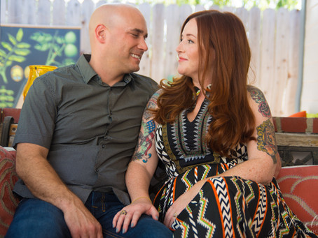 Cozy Home Engagement Shoot: Sam & Jason