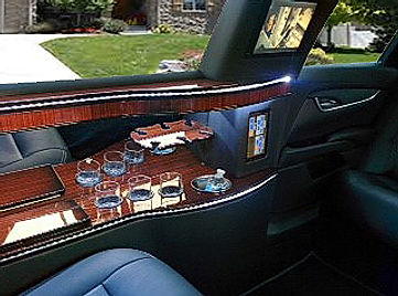 cadillac xts stretch limo bar