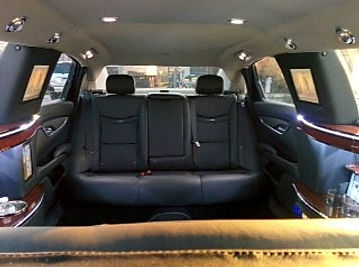 cadillac xts stretch sedan rear seats