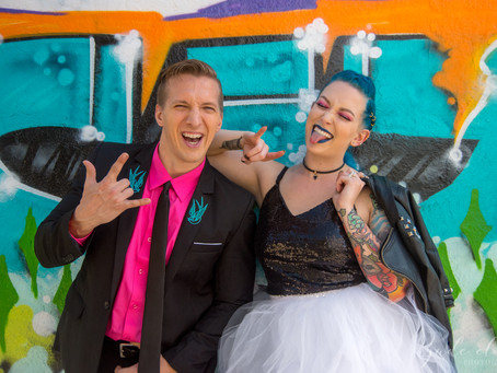 Colorful Punk Wedding in Highland Park