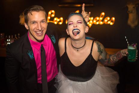 Punk wedding at York Manor's underground
