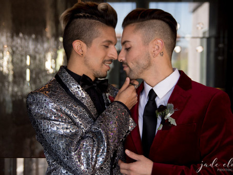 Rock 'n' Roll Glam Same-Sex Wedding Inspiration