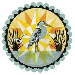 Customizable hybrid heron hex painting $100 16_ 🎨✌️❤️ #rachelyoderart #folkart #deitsch #fraktur #h