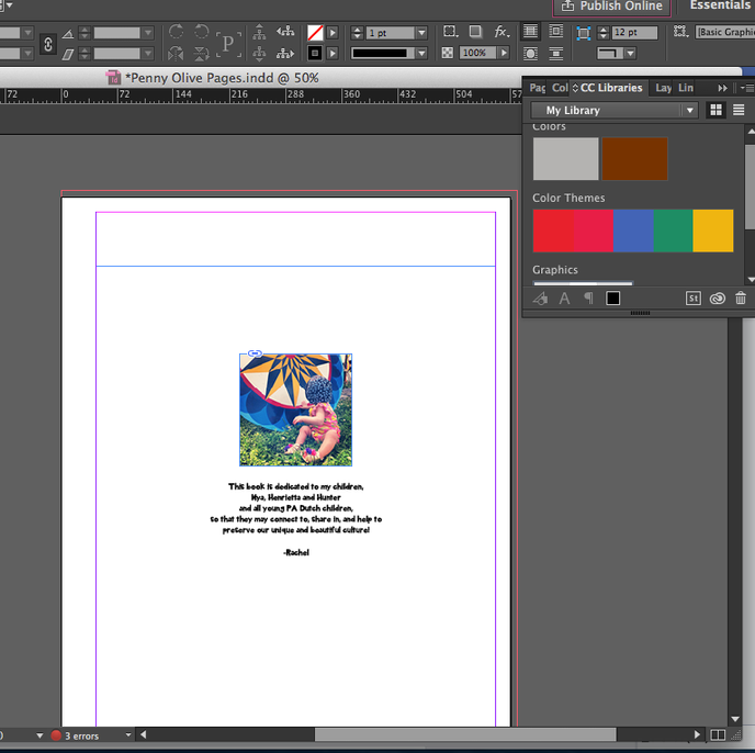 First time using InDesign :)