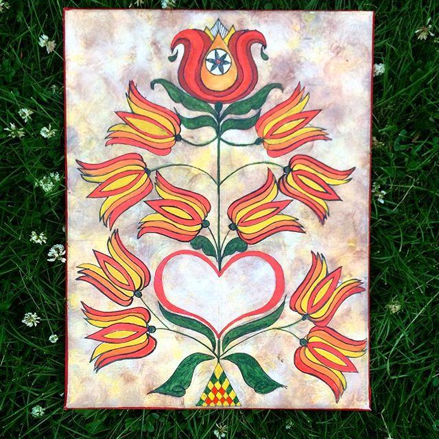 $75 canvas print ❤️ #deitsch #fraktur #folkart #rachelyoderart #padutchartist