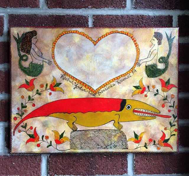 Fully customizable fraktur piece in  good company hybrid painting $100 ❤️ #fraktur #rachelyoderart #
