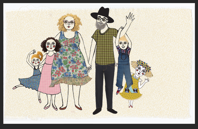 2nd to last illustration.... Penny Olive's family :)