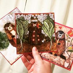 Loving these sweet Grundsaudaag cards!! #WilkumGrundsau #rachelyoderart #GrundsaudaagSeasonsSeries #