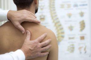 Assessment of a clients shoulder.