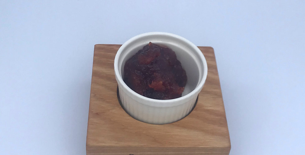 Ash wood and porcelein condiment dish for Jam