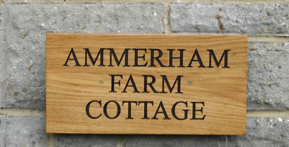 Large Oak house sign