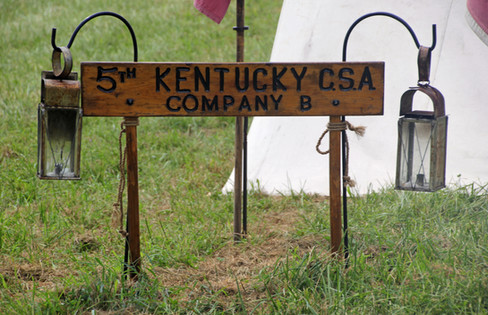 5th Company CSA Company B sign