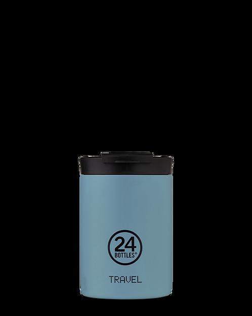 24 Bottles Travel Tumbler Powder Blue - Ποτήρι Θερμός 350ml