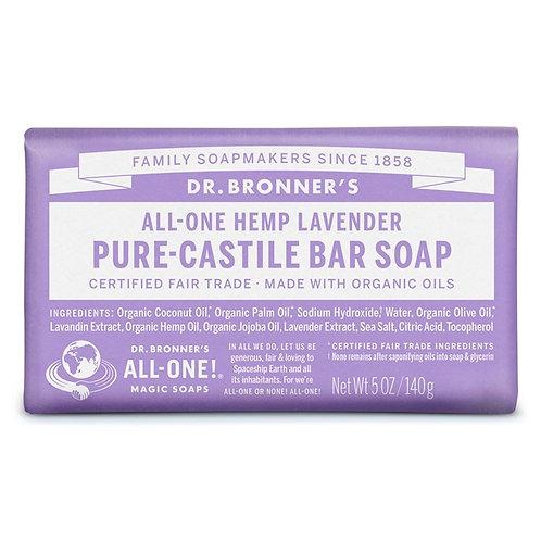Dr. Bronner's Pure Castile Bar Soap Lavender - Αγνό Σαπούνι Καστίλης Σε Μπάρα