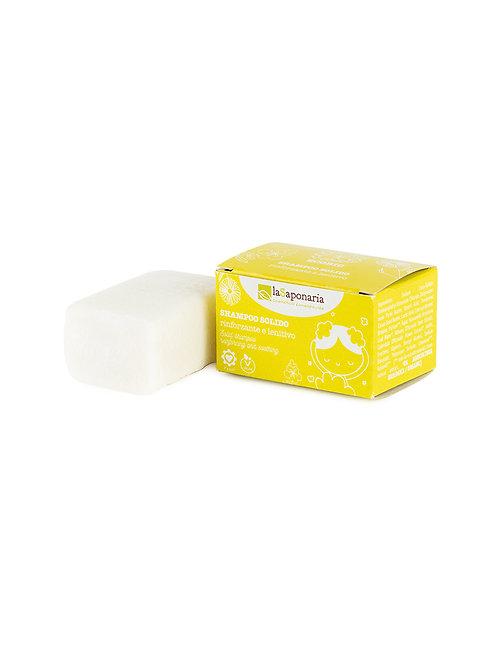 La Saponaria Solid Shampoo Reinforcing & Soothing - Οργανικό Στερεό Σαμπουάν
