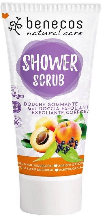 Benecos Shower Scrub - Βιολογικό Βερίκοκο & Βιολογικά Άνθη Κουφοξυλιάς