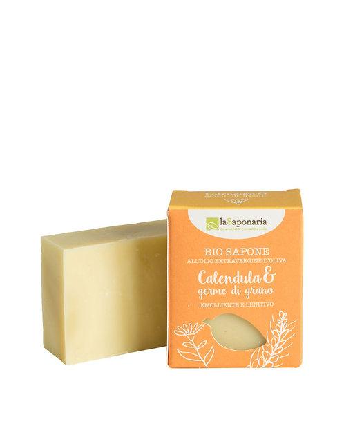 La Saponaria Soap Marigold & Wheat Germs - Σαπούνι Καλέντουλα & Σιτάρι