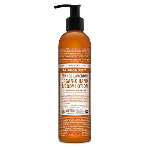Dr. Bronner's Organic Body Lotion Orange Lavender - Πορτοκάλι & Λεβάντα