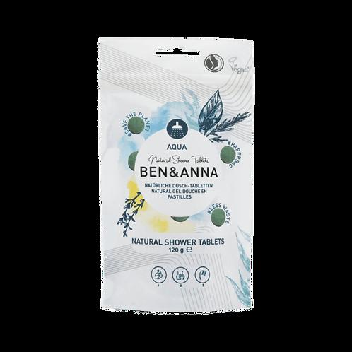 Ben & Anna Natural Shower Tablets Aqua - Ταμπλέτες Αφρόλουτρο