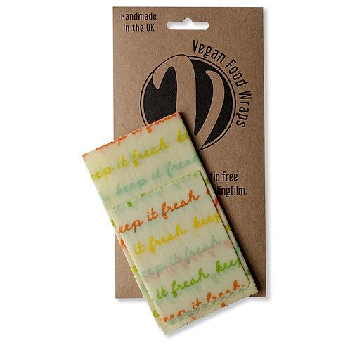 Vegan Wraps Κερομάντηλα Πολλαπλών Χρήσεων - Σετ 2