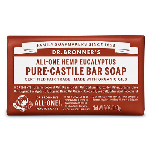Dr. Bronner's Pure Castile Bar Soap Eucalyptus - Αγνό Σαπούνι Καστίλης Σε Μπάρα