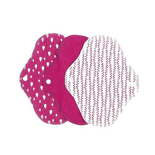 Υφασμάτινα Σερβιέτακια Από Βιολογικό Βαμβάκι - SET 3 Panty Liner Sangria