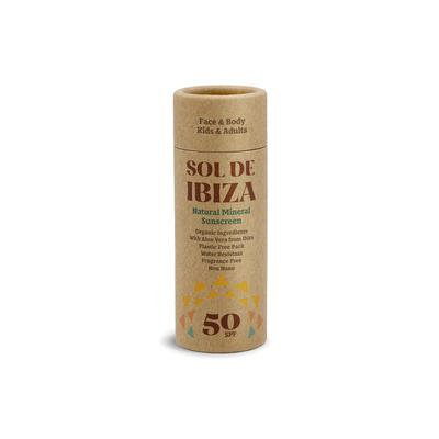 Sol De Ibiza Organic Sun Cream SPF50 - Οργανικό Αντηλιακό Stick