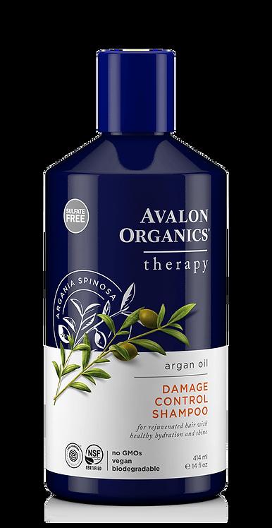 Avalon Organics Damage Control Argan Oil - Θεραπευτικό Σαμπουάν Αναδόμησης