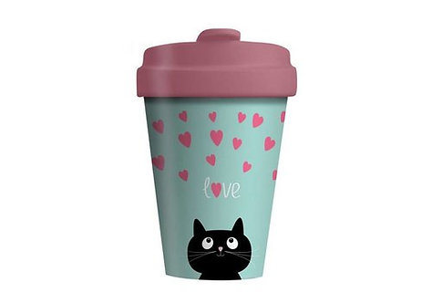 Eco BambooCup - Kitty Love