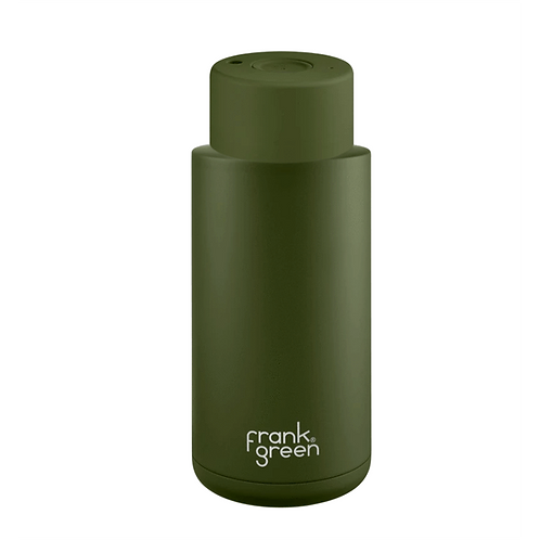 Frank Green Ceramic Thermos Bottle Khaki - Μπουκάλι Θερμός 1L