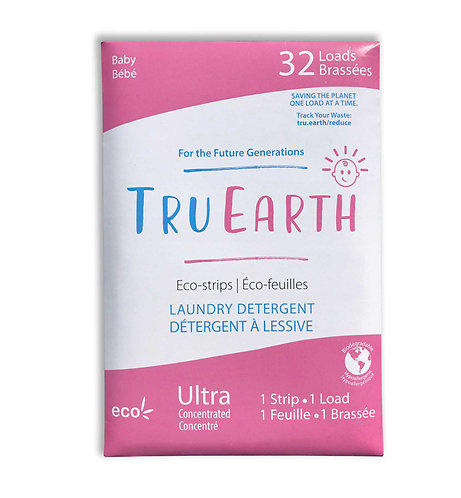 Tru Earth Laundry Eco-Strips Baby - Zero Waste Laundry - Απορρυπαντικό Ρούχων
