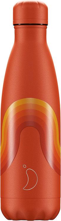 Μπουκάλι Θερμός Chilly's - Retro Stripe Orange 500ml