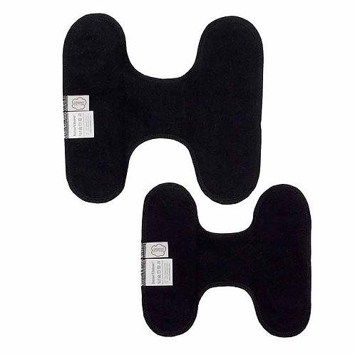 Υφασμάτινη Σερβιέτα Πολλαπλών Χρήσεων - SET 3 Panty Liners Black / Χωρίς Τρουκς