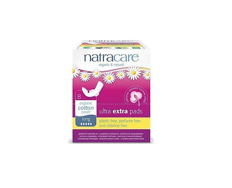 Natracare Ultra Extra Pads Long 8 τμχ