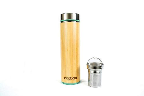 Boobam Τumbler Green - Θερμός Bamboo & Stainless Steel 532ml