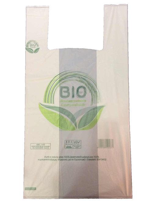 Σακούλα από άμυλο 100% Βιοαποικοδομήσιμη / Κομποστοποιήσιμη - Μέγεθος Medium