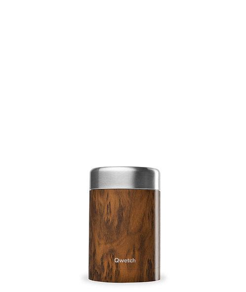 Qwetch Leakproof Insulated Food Jar - Ανοξείδωτο Θερμός Φαγητού Wood