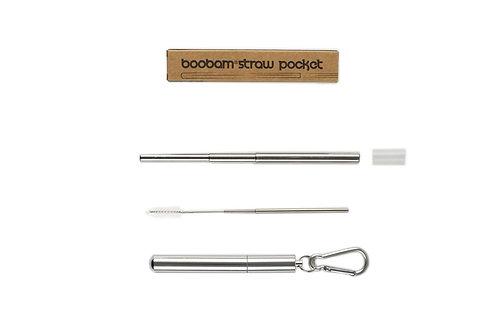 Boobam Pocket Straw - Πτυσσόμενο Καλαμάκι Με Θήκη