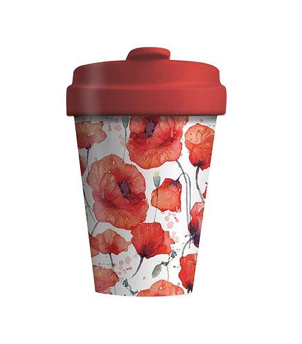 Eco BambooCup - Poppy Flower
