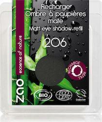 ZAO Eyeshadow Matt - Βιολογική Σκιά 206 Black Refill