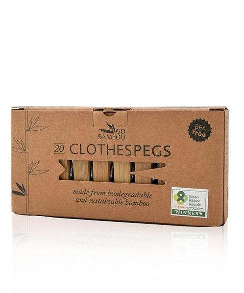 Μανταλάκια Από Μπαμπού - Bamboo Clothes Pegs